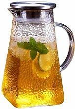 Glas-Teekanne Teekanne Liter Karaffe Glas mit