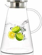 Glas-Teekanne Teekanne Liter Wasserkrug mit