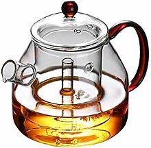 Glas Teekanne Teekessel 1200ml Glas mit großem