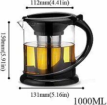 Glas Teekanne Teekessel 1800ml große Teekanne aus