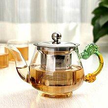 Glas Teekanne Teekessel 350ml handgemachte