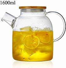Glas Teekanne Teekessel Glasteekanne mit 304