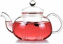 Glas Teekanne Teekessel Hitzebeständiger Glastee