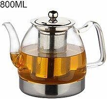 Glas Teekanne Teekessel Verdicken Sie Glasteekanne