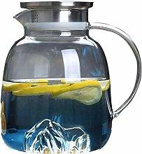 Glas-Teekanne, Wasserkocher, 1700 ml, Glaskrug mit