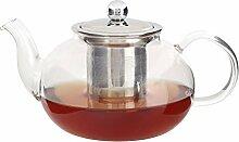 Glas Teekanne Wasserkocher