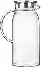 Glas-Teekanne Wasserkrug Glas-Teekanne Krug mit
