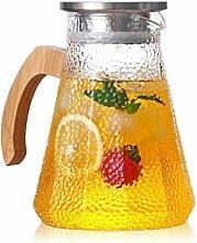 Glas-Teekanne Wasserkrug Glaskrug mit Deckel