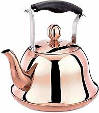 Glas-Teekessel für Gasherd, Edelstahl, schnell