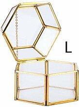 Glas-Terrarium, Glas, Blumenkasten, sechseitig,