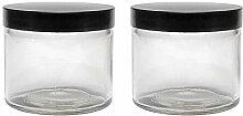 Glas Tiegel Set 2 x 250 ml Cremetiegel mit
