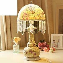 Glas-tischleuchte/Bunten Lichtern/Schlafzimmer Bett Lampe/Studie Lampe/Glühbirne/Tischleuchte