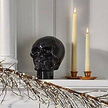 Glas-Totenkopf-Heimdekoration –
