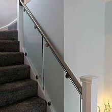 Glas und Edelstahl Handrail Treppe Balustrade Kit