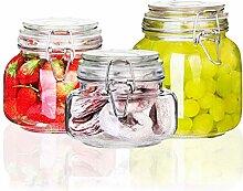 Glas versiegelt Vorratsgläser Transparent