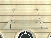 Glas-Vordach 120 x 90 cm