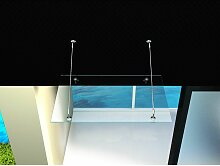 Glas-Vordach 150 x 90 cm - Klarglas