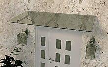 Glas Vordach Haustür Edelstahl EGD 2,1 x 1,1m x