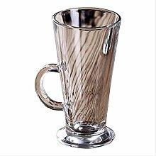 Glas Wasserbecher Milchtasse Latte Kaffeetasse