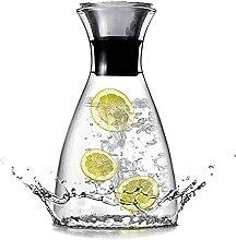 Glas Wasserkaraffe mit Edelstahldeckel Glas
