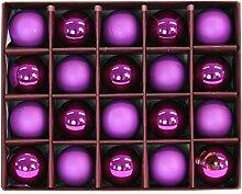 Glas Weihnachtskugeln 20 Stück Ø 4cm (pink)