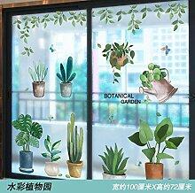 Glasaufkleber Fenster Blumenaufkleber
