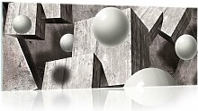 Glasbild 3D Brayden Studio Format: 60,5 cm H x 136