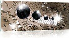 Glasbild 3D Puzzle Tunnel Brayden Studio Format: