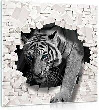 Glasbild 3D Tiger Bloomsbury Market Format: 50 cm