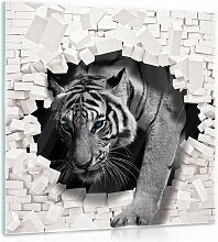 Glasbild 3D Tiger Bloomsbury Market