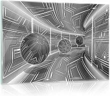 Glasbild 3D Tunnel Brayden Studio