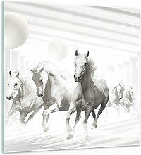 Glasbild Abstrakte Pferde Alpen Home