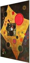 Glasbild Accent in Pink von Wassily Kandinsky East