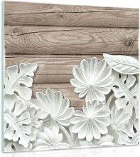 Glasbild Alabaster-Blumen Brayden Studio