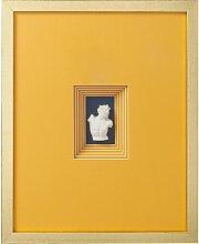Glasbild Antike Büste Orange KARE Design
