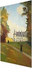 Glasbild At the Schloss Tanlay von Emile Bernard