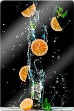 Glasbild Belenko - Splashing Lemonade 80x60 cm
