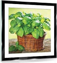 Glasbild Blumen 17 Stories Größe: 30 cm H x 30