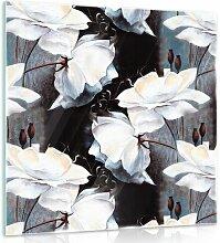 Glasbild Blumen Brayden Studio Format: 30 cm H x