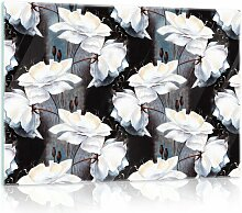 Glasbild Blumen Brayden Studio Format: 40 cm x 60