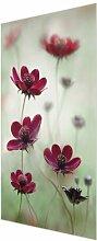 Glasbild Blumen in Rosa East Urban Home