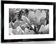 Glasbild Blumen in Schwarz/Weiß/Grau 17 Stories