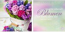 Glasbild Blumen, Kunstdruck East Urban Home