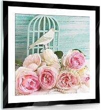 Glasbild Blumen Lily Manor Größe: 40 cm H x 40