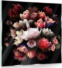 Glasbild Blumen ModernMoments Größe: 30 cm H x
