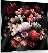 Glasbild Blumen ModernMoments Größe: 50 cm H x