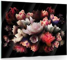 Glasbild Blumen ModernMoments Größe: 60 cm H x