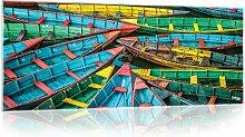 Glasbild Boote Longshore Tides Größe: 60,5 cm H