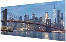 Glasbild Brooklyn Bridge in Manhattan, New York