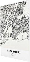 Glasbild Classic New York East Urban Home
